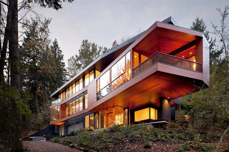 Hoke residence - house in the forest
