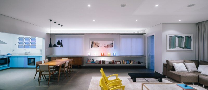 The studio apartment modernized according to the conception of Flavio Castro