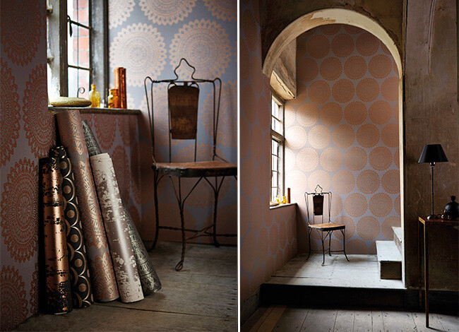 leonida wallpaper - A refined wallpaper - able to turn your room in an artistical space