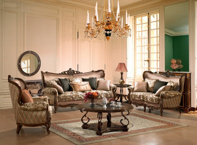 A beautiful selection of 15 living rooms, decorated in classic style (12)