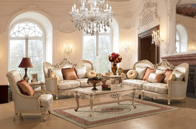 A beautiful selection of 15 living rooms, decorated in classic style (13)