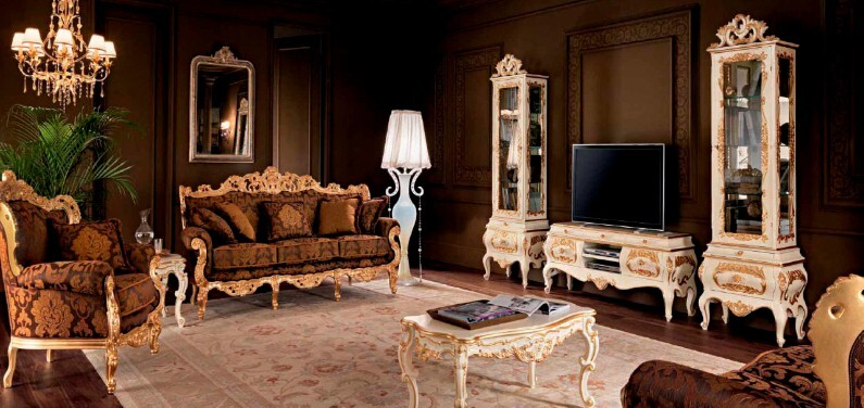 A beautiful selection of 15 living rooms, decorated in classic style (18)