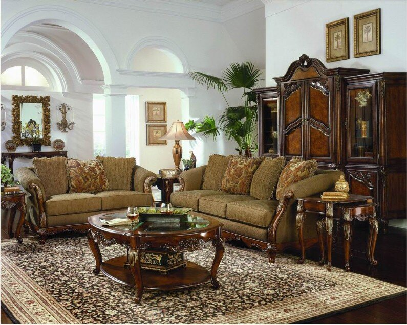 A beautiful selection of 15 living rooms, decorated in classic style (23)