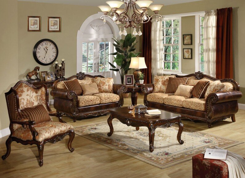 A beautiful selection of 15 living rooms, decorated in classic style (4)