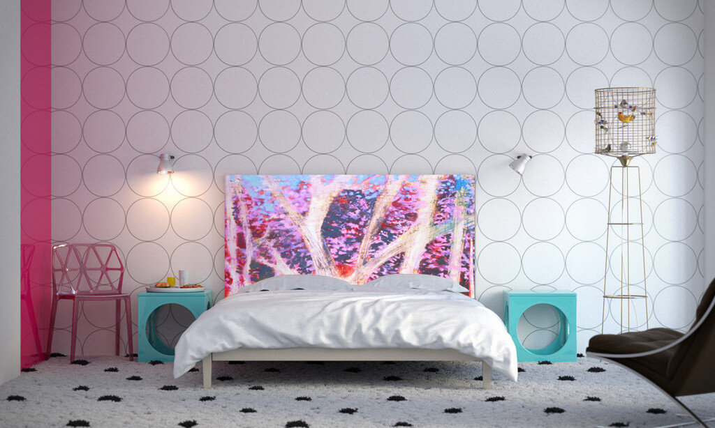 Headboard can bring art into the bedroom, by NOYO (11)