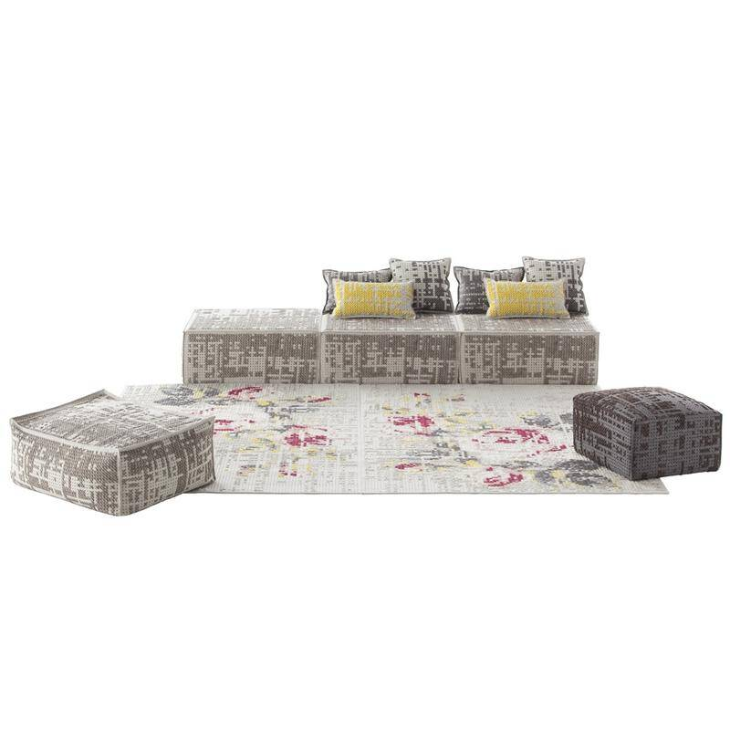 New rugs, pouffes and cushions by Charlotte Lancelot partnered with Gandia Blasco's GAN division