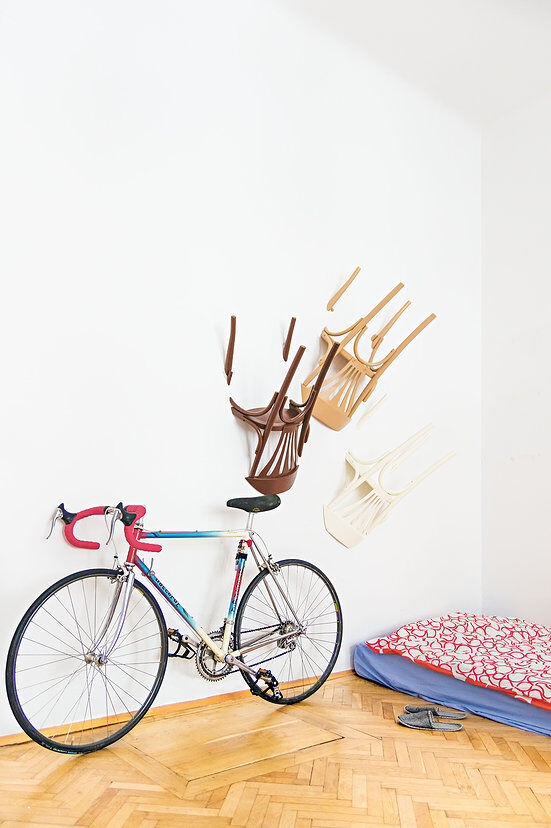 Nikos Tsoumanis' creativity. How can you use the old chairs
