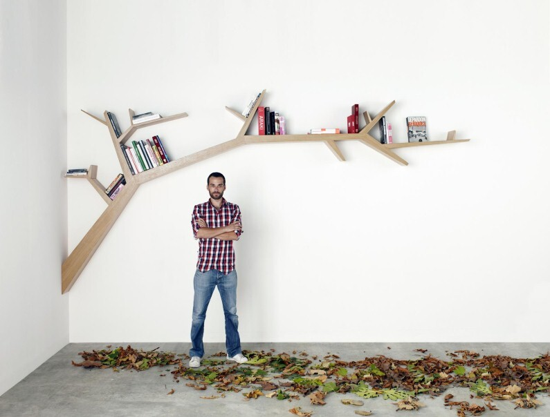 Olivier Dolle - Tree Branch Library - a simple, beautiful and poetic design  (2)