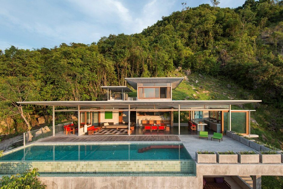 Architectural project for open space and a beautiful view