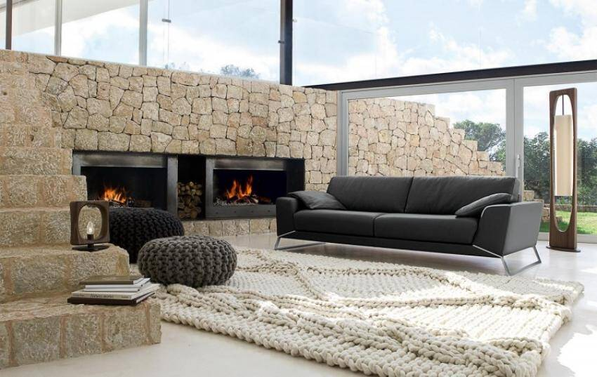 Modern living room with rustic accents (14)