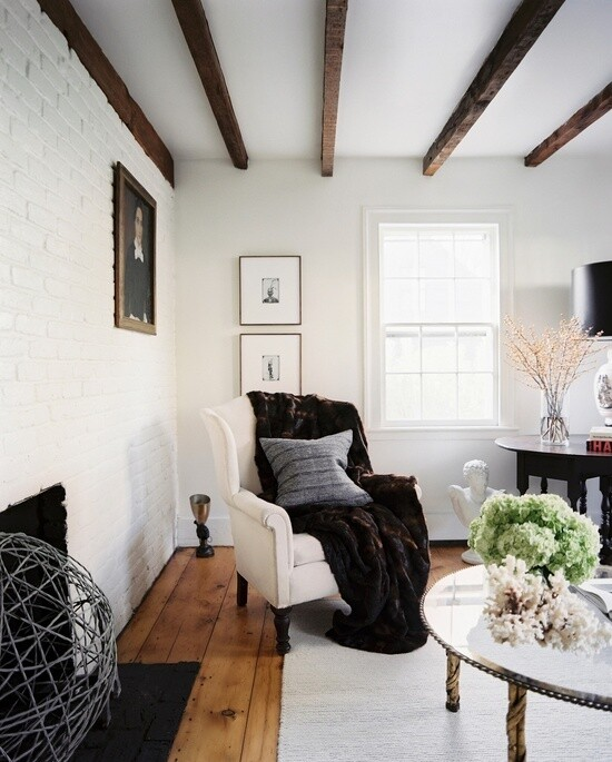 Modern living room with rustic accents (4)