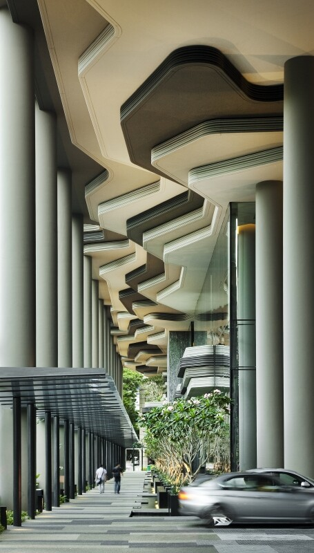 Parkroyal on Pickering Hotel from Singapore, by WOHA Architects (1)