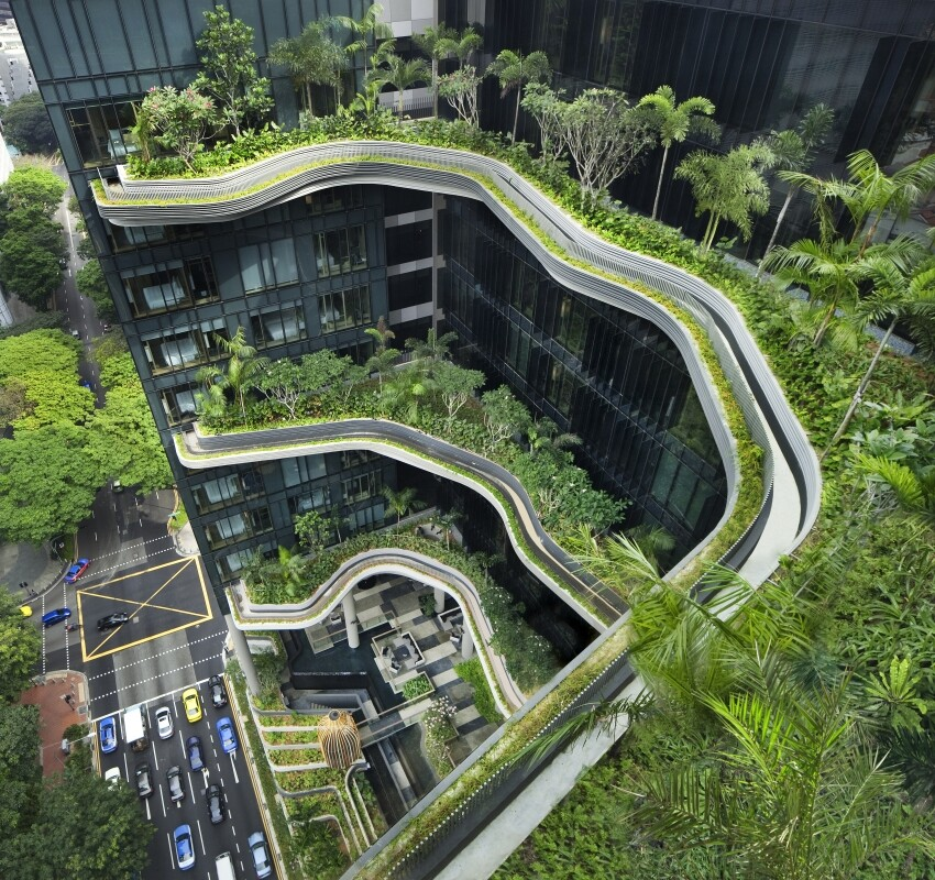 Parkroyal on Pickering Hotel from Singapore, by WOHA Architects (6)