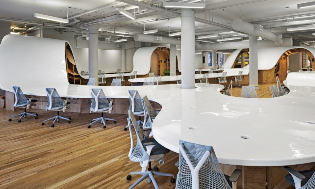office design, Clive Wilkinson Architects