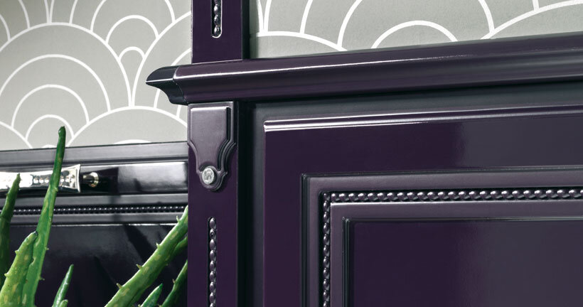 purple kitchen- contemporary luxury and traditional design by Brummel (7)