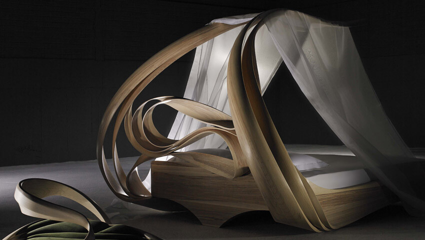 Works of art made by Joseph Walsh. Enignum Canopy Bed (3)