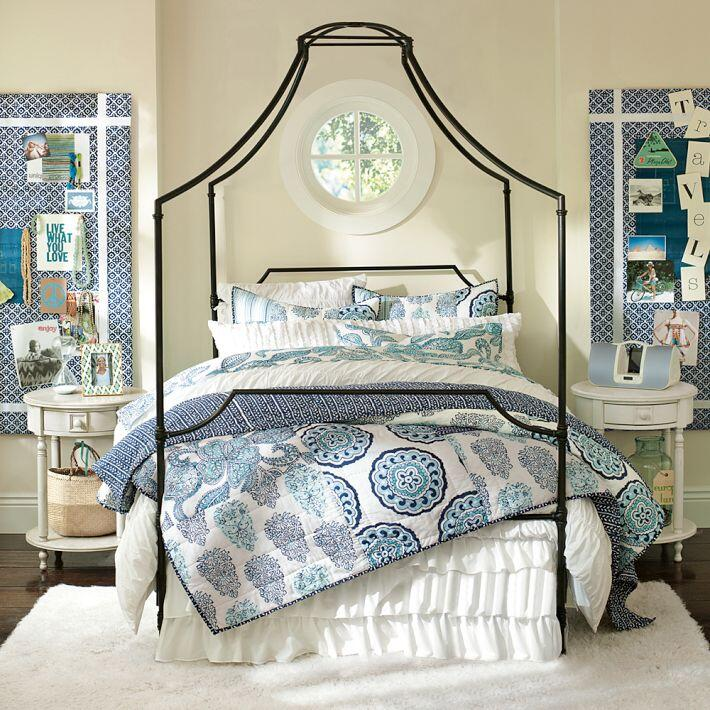 Bedroom ideas - canopy bed with contemporary design PB Teen (1)