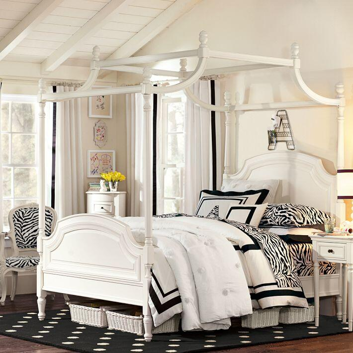 Bedroom ideas - canopy bed with contemporary design PB Teen (11)
