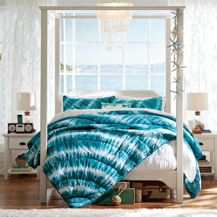 Bedroom ideas - canopy bed with contemporary design PB Teen (14)