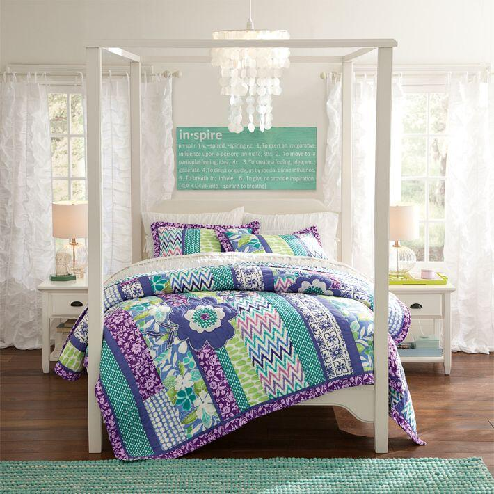 Bedroom ideas - canopy bed with contemporary design PB Teen (2)