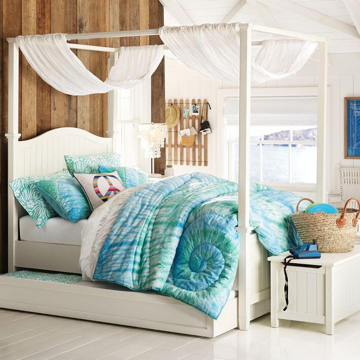 Bedroom ideas - canopy bed with contemporary design PB Teen (5)