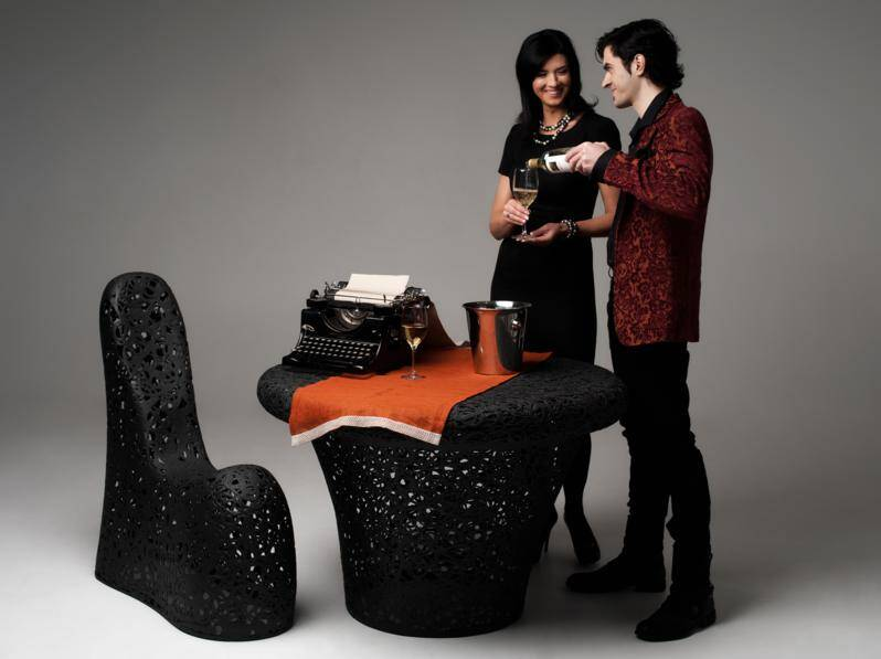 Eco-friendly furniture made from volcanic basalt fibers, by Maffam Freeform