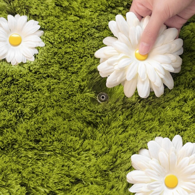 Daisy Garden Rug - a playful and interactive rug by Joe Jin Design Company Ltd (1)