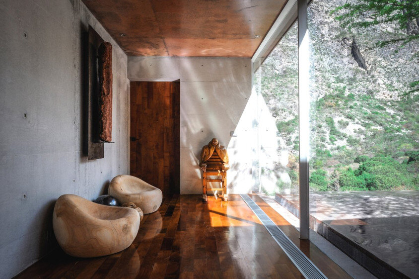 Modern house surrounded by mountains Narigua by P mas Cero arquitectura (12)