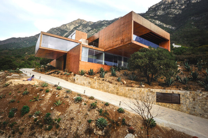 Modern house surrounded by mountains Narigua by P mas Cero arquitectura