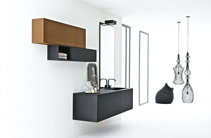 Volo Green minimalist bathroom collection by Altamarea