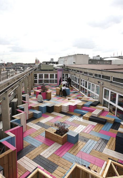 Spectacular roof–terrace for London College of Fashion (1)