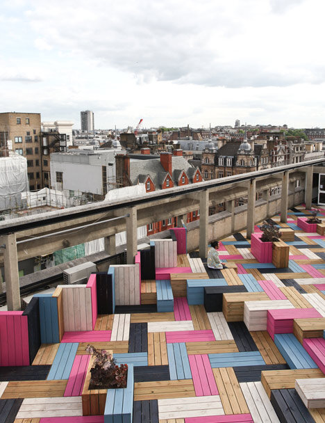 Spectacular roof–terrace for London College of Fashion 5