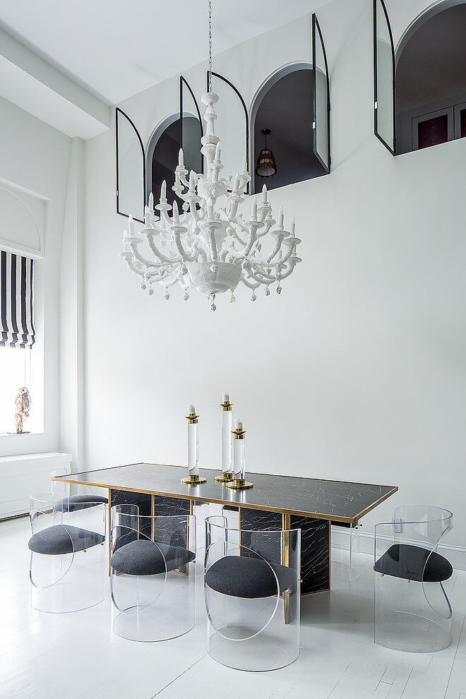 Eclectic design style and originality for Soho Penthouse / www.homeworlddesign.com