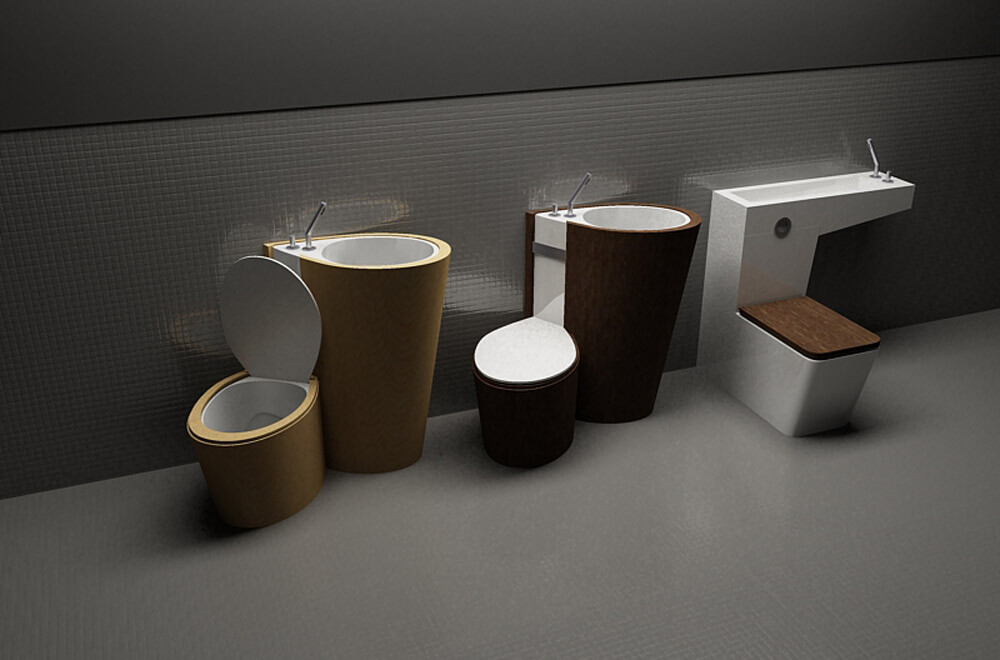 Za Bor Architects proposes an optimal combination of the toilet and sink - www.homeworlddesign. com (1)
