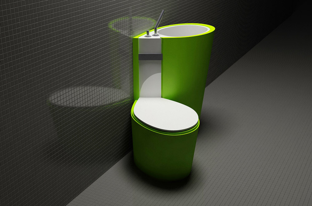 Za Bor Architects proposes an optimal combination of the toilet and sink - www.homeworlddesign. com (2)