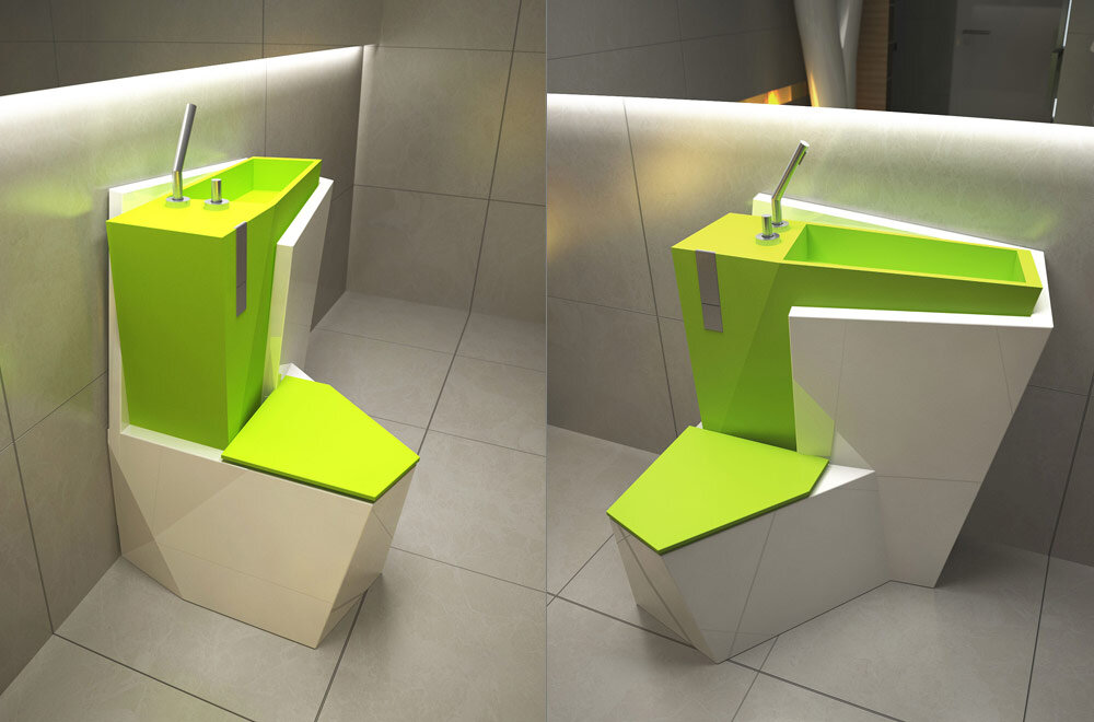 Za Bor Architects proposes an optimal combination of the toilet and sink - www.homeworlddesign. com (4)