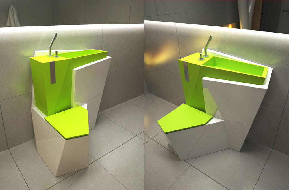 Za Bor Architects proposes an optimal combination of the toilet and sink - www.homeworlddesign. com (5)