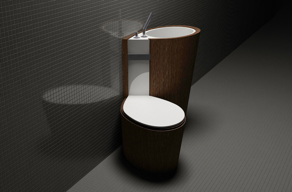 Za Bor Architects proposes an optimal combination of the toilet and sink - www.homeworlddesign. com (6)