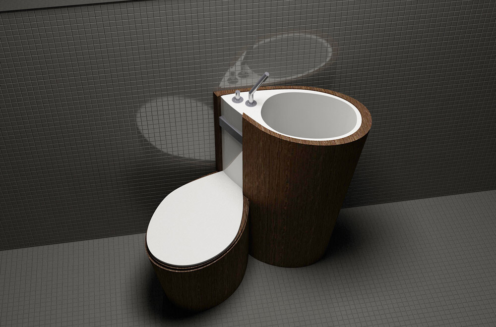 Za Bor Architects proposes an optimal combination of the toilet and sink - www.homeworlddesign. com (7)