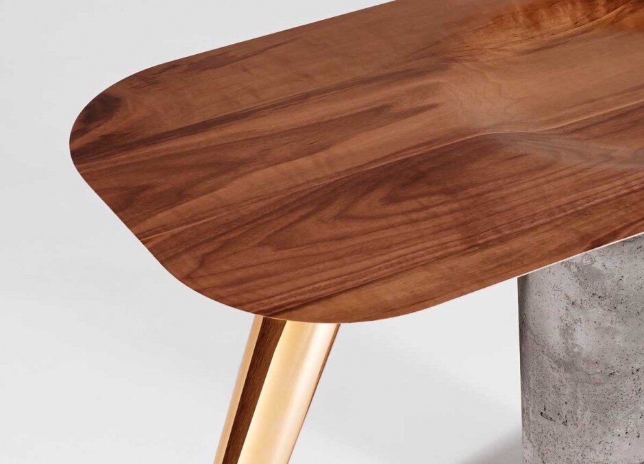 CS1 Collection by Asfrei interaction between walnut wood, concrete and copper  - www.homeworlddesign. com (3)