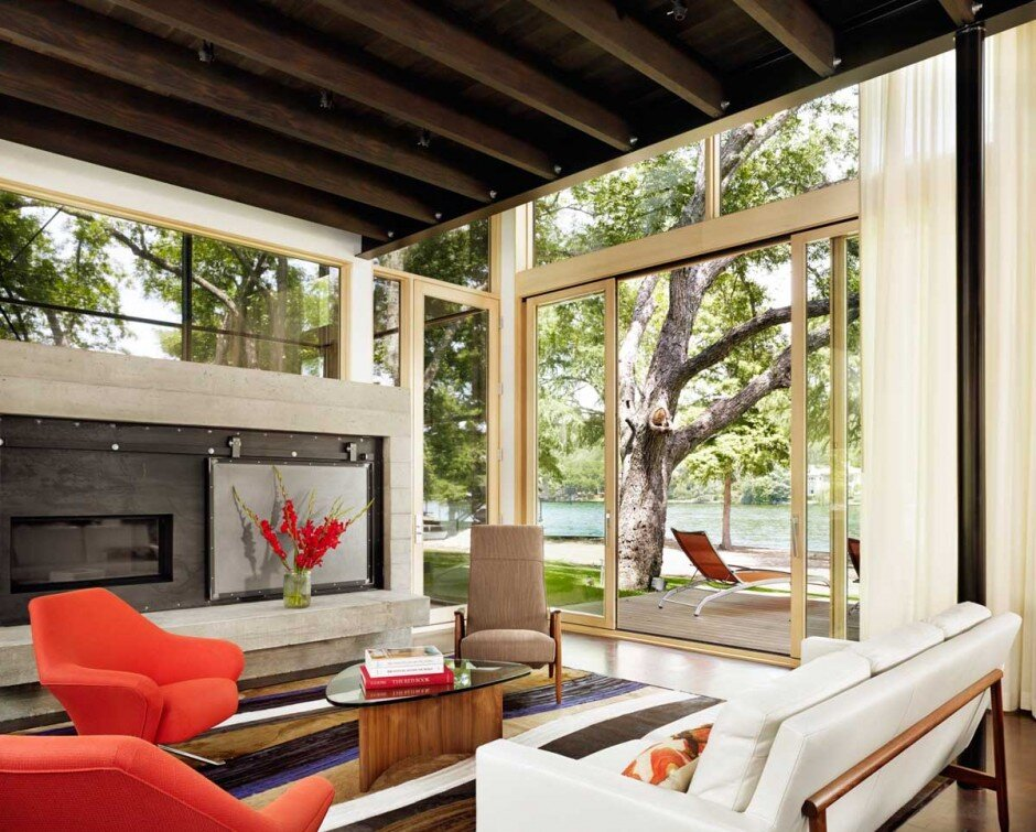 architecture with a strong connection to nature The Hog Pen Creek Residence - www.homeworlddesign. com (9)