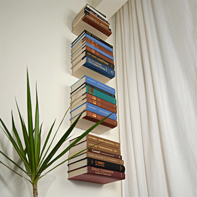 Bookshelves with minimalist design and expressive Conceal book shelf - www.homeworlddesign. com (12)