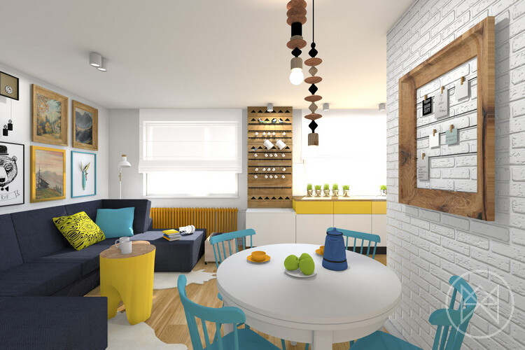 Pastel colours and freshness in this apartment in Jaworzno - www.homeworlddesign. com (3)