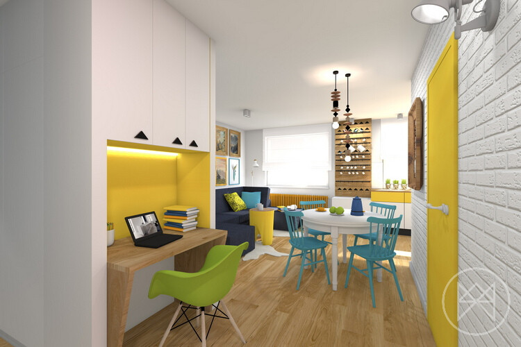 Pastel colours and freshness in this apartment in Jaworzno - www.homeworlddesign. com (6)