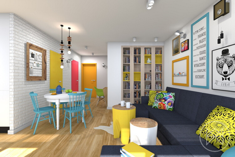 Pastel colours and freshness in this apartment in Jaworzno - www.homeworlddesign. com (7)