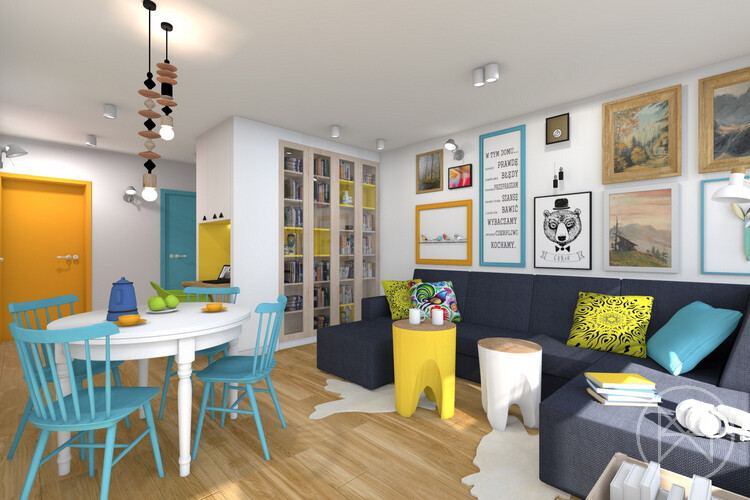 Pastel colours and freshness in this apartment in Jaworzno - www.homeworlddesign. com (8)