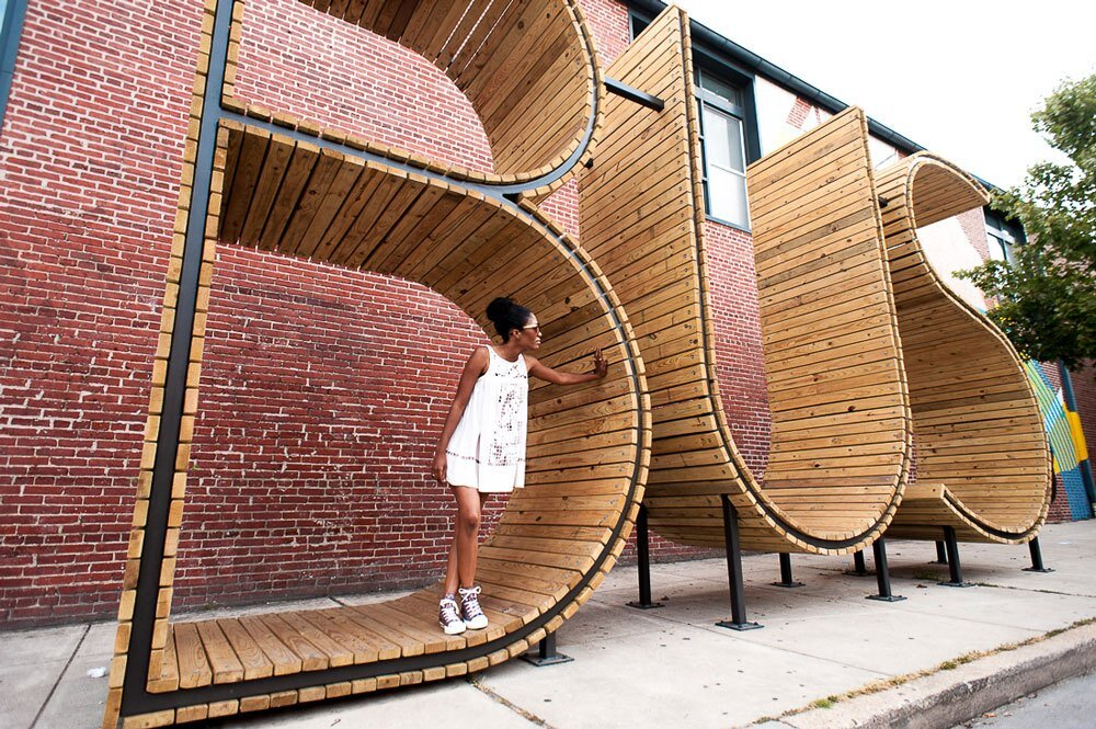 BUS stop in Baltimore - three huge letters - www.homeworlddesign. com (11)