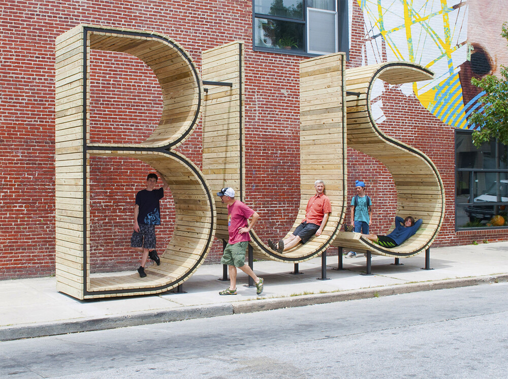 BUS stop in Baltimore - three huge letters - www.homeworlddesign. com (8)