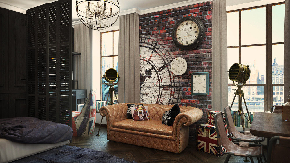 London Sky eclectic 32 Sqm studio apartment in London - HomeWorldDesign (1)
