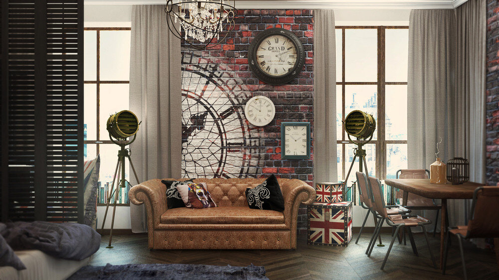 London Sky eclectic 32 Sqm studio apartment in London - HomeWorldDesign (2)